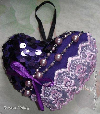 Вдохновение для дня святого Валентина.  Текстильные валентинки. фото 1