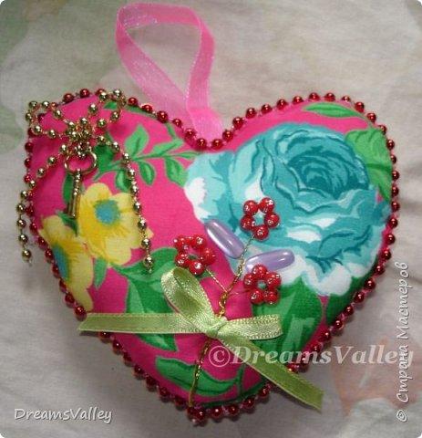 Вдохновение для дня святого Валентина.  Текстильные валентинки. фото 2