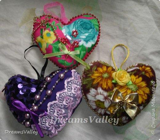 Вдохновение для дня святого Валентина.  Текстильные валентинки. фото 3