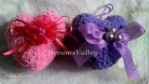 Вдохновение для дня святого Валентина.  Текстильные валентинки. фото 4