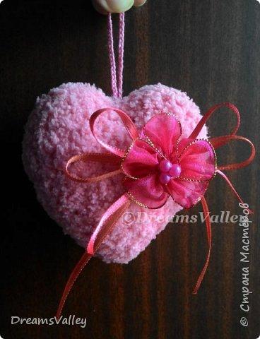 Вдохновение для дня святого Валентина.  Текстильные валентинки. фото 6