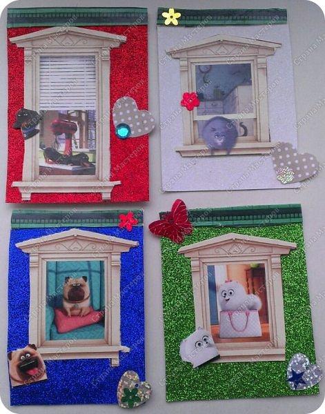 """Здравствуй СМ! Сегодня представляю новую серию АТС """"Тайная жизнь домашних животных"""" из четырех карточек. Кто смотрел мультик, тот знает героев. фото 1"""