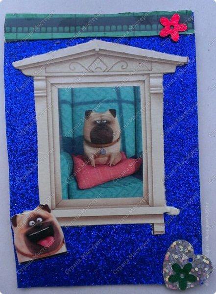 """Здравствуй СМ! Сегодня представляю новую серию АТС """"Тайная жизнь домашних животных"""" из четырех карточек. Кто смотрел мультик, тот знает героев. фото 2"""