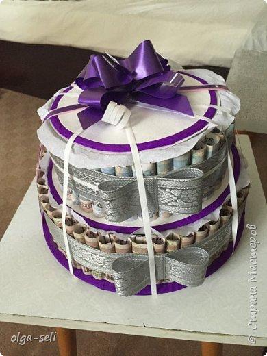 Денежный торт фото 2