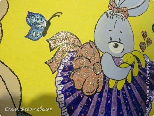 Для моей любимой девочки на день ее рождения )) использовались акрил, лак и бусины фото 2