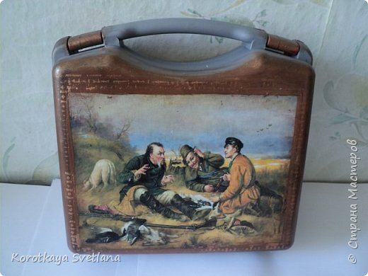 Такой комплект делала на заказ. Дежурный чемоданчик для охотника. Сам чемоданчик из автомобильной аптечки, а бутылка-это бутылка. фото 3