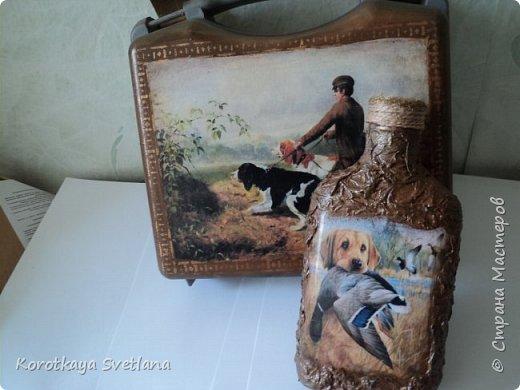Такой комплект делала на заказ. Дежурный чемоданчик для охотника. Сам чемоданчик из автомобильной аптечки, а бутылка-это бутылка. фото 1