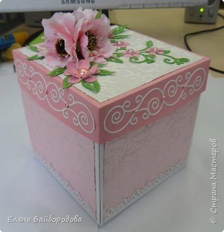 Добрый день! Хочу показать несколько последних своих поделок. Коробочка для денежного подарка. фото 10