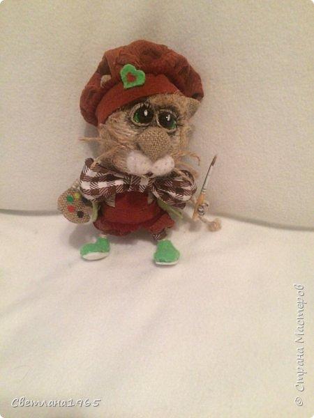 Здравствуйте !сварганила еще одну игрушку-влюбленный кот фото 1