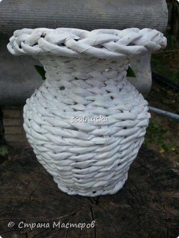 Добрый день!  Сегодня выставляю свою первую вазочку. Вижу что кривенькая, есть к чему стремится.  фото 2