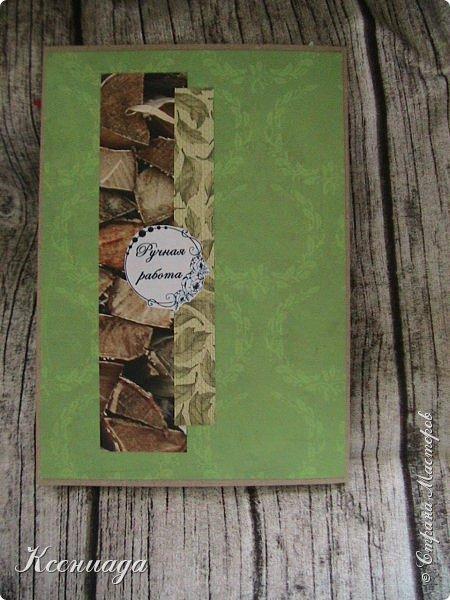 Всем доброго времени суток!!! Сегодня я к вам с осенью и мухоморами!!! И котами тоже!      Заказали открытку для мужчины дачнику и грибнику на 70-летие. Поэтому решила сделать её осенней фото 5