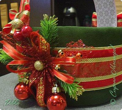 корзинка новогодняя фото 2