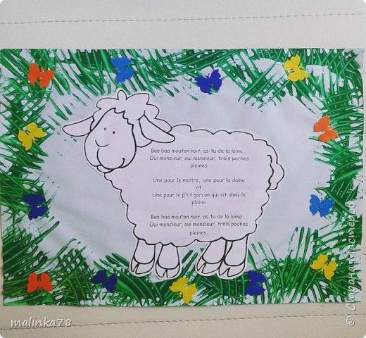 Идея оформления детской песенки про барашка.