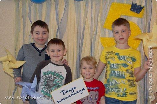 Привет, Страна!!! В прошлом году день рождения дочки отмечали в оранжевом цвете http://stranamasterov.ru/node/902165 , а пятилетие отметили в сине-желтой цветовой гамме.Хочу показать вам то, что у меня получилось подготовить)) фото 5
