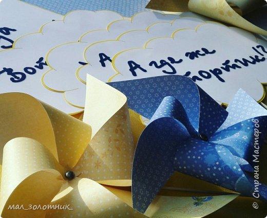 Привет, Страна!!! В прошлом году день рождения дочки отмечали в оранжевом цвете http://stranamasterov.ru/node/902165 , а пятилетие отметили в сине-желтой цветовой гамме.Хочу показать вам то, что у меня получилось подготовить)) фото 3