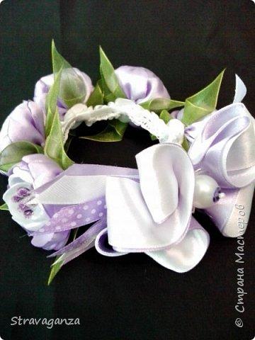 """Всем добрый день! Снова хочу поделиться новыми изделиями. И снова меня вдохновляет Татьяна Скрябина. Очень красивые бабочки """"Аметист"""". Я делала на заказ в разных цветах, в любом варианте смотрятся просто чудесно, но мой любимый цвет все же фиолетовый. фото 3"""