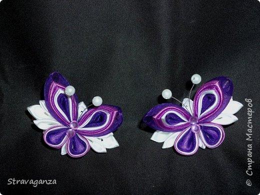 """Всем добрый день! Снова хочу поделиться новыми изделиями. И снова меня вдохновляет Татьяна Скрябина. Очень красивые бабочки """"Аметист"""". Я делала на заказ в разных цветах, в любом варианте смотрятся просто чудесно, но мой любимый цвет все же фиолетовый. фото 1"""