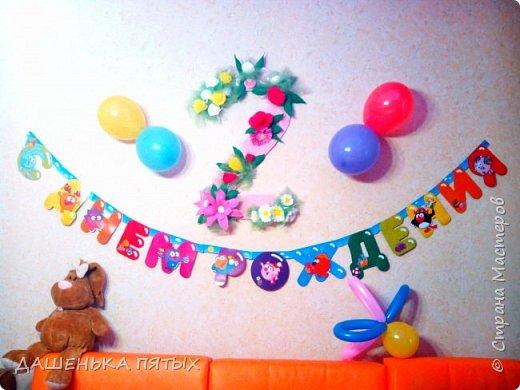 Здравствуйте гости моей странички:-)на этот раз доченьке на день рождение решила сделать двоечку подвесную.вот что получилось:-) фото 1