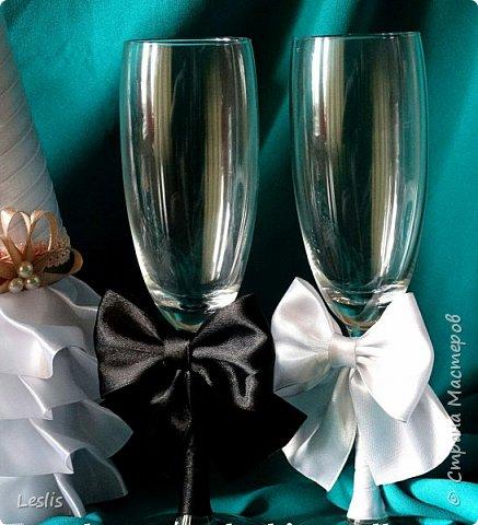 Свадебные аксессуары. Бокалы. фото 3