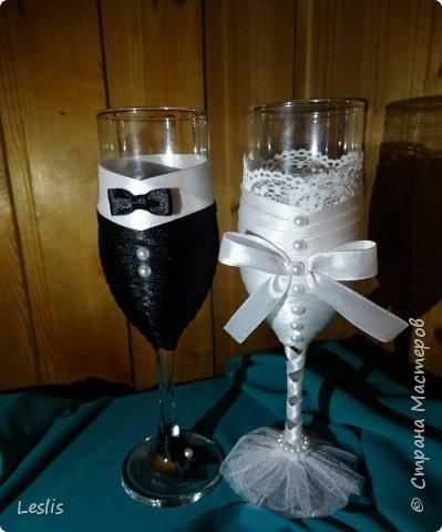 Свадебные аксессуары. Бокалы. фото 1