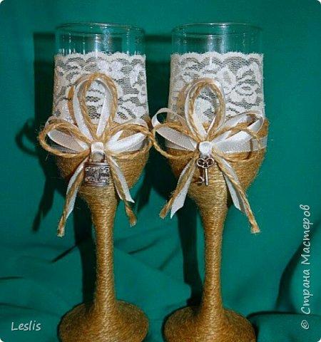 Свадебные аксессуары. Бокалы. фото 5