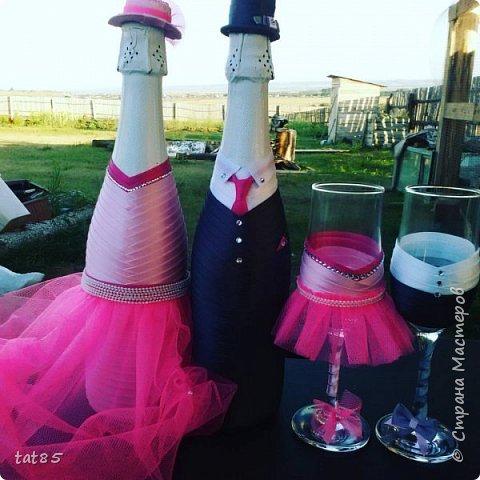 Этот свадебный набор делала совсем недавно ,попросили друзья придумать что-то в розовых тонах, вот что получилось)) фото 1