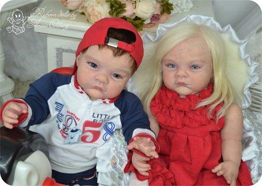 """Здравствуйте,девочки-мастерицы! Вот и """"родились"""" у меня новенькие куклята, братик и сестрёнка Тимофей и Таисия. Крупные детки, по 67 см, вес 2,5 кг. фото 20"""