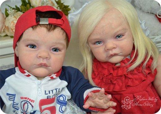 """Здравствуйте,девочки-мастерицы! Вот и """"родились"""" у меня новенькие куклята, братик и сестрёнка Тимофей и Таисия. Крупные детки, по 67 см, вес 2,5 кг. фото 26"""