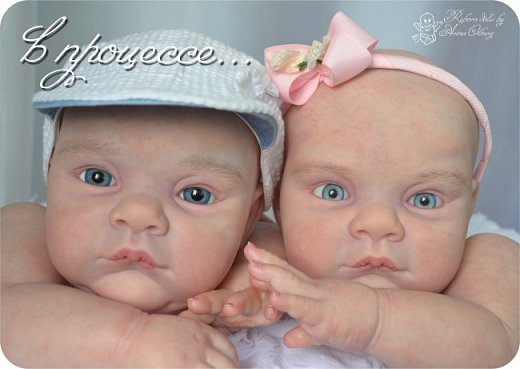 """Здравствуйте,девочки-мастерицы! Вот и """"родились"""" у меня новенькие куклята, братик и сестрёнка Тимофей и Таисия. Крупные детки, по 67 см, вес 2,5 кг. фото 4"""