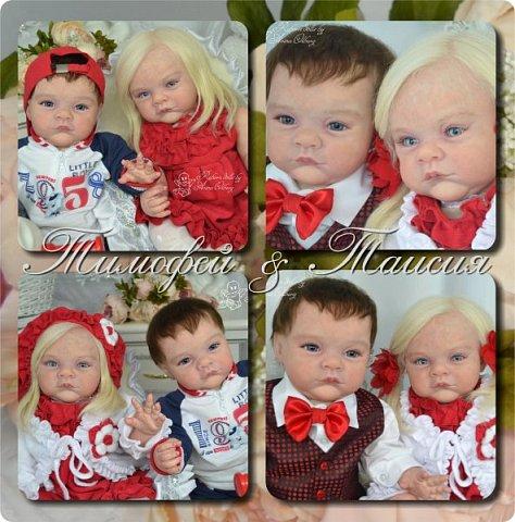 """Здравствуйте,девочки-мастерицы! Вот и """"родились"""" у меня новенькие куклята, братик и сестрёнка Тимофей и Таисия. Крупные детки, по 67 см, вес 2,5 кг. фото 36"""