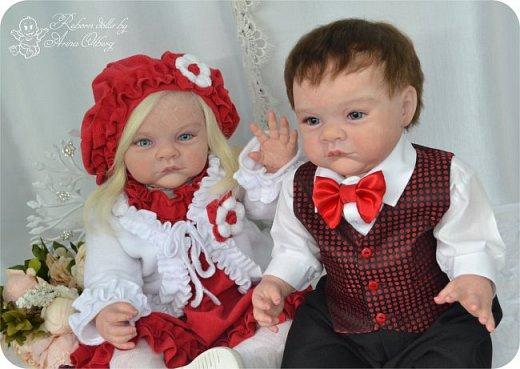 """Здравствуйте,девочки-мастерицы! Вот и """"родились"""" у меня новенькие куклята, братик и сестрёнка Тимофей и Таисия. Крупные детки, по 67 см, вес 2,5 кг. фото 6"""