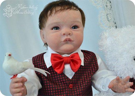 """Здравствуйте,девочки-мастерицы! Вот и """"родились"""" у меня новенькие куклята, братик и сестрёнка Тимофей и Таисия. Крупные детки, по 67 см, вес 2,5 кг. фото 10"""