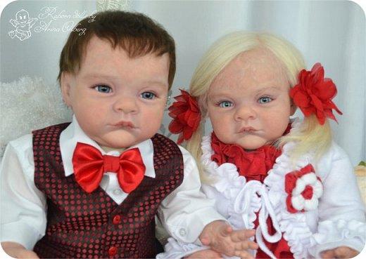 """Здравствуйте,девочки-мастерицы! Вот и """"родились"""" у меня новенькие куклята, братик и сестрёнка Тимофей и Таисия. Крупные детки, по 67 см, вес 2,5 кг. фото 11"""