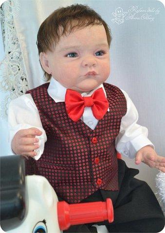 """Здравствуйте,девочки-мастерицы! Вот и """"родились"""" у меня новенькие куклята, братик и сестрёнка Тимофей и Таисия. Крупные детки, по 67 см, вес 2,5 кг. фото 15"""