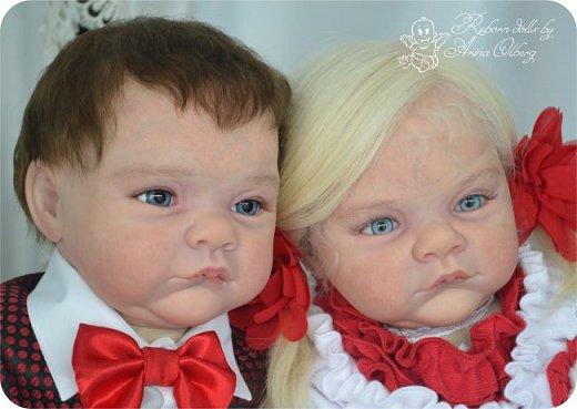 """Здравствуйте,девочки-мастерицы! Вот и """"родились"""" у меня новенькие куклята, братик и сестрёнка Тимофей и Таисия. Крупные детки, по 67 см, вес 2,5 кг. фото 1"""