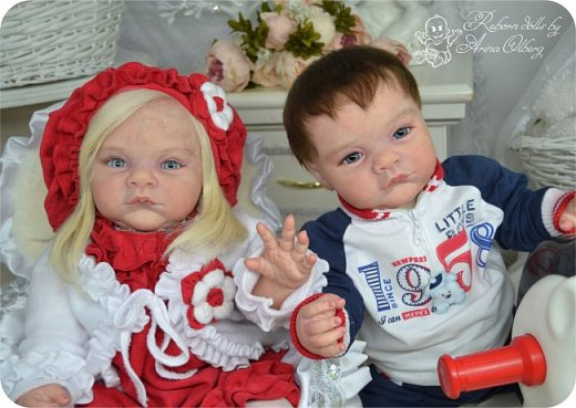 """Здравствуйте,девочки-мастерицы! Вот и """"родились"""" у меня новенькие куклята, братик и сестрёнка Тимофей и Таисия. Крупные детки, по 67 см, вес 2,5 кг. фото 16"""