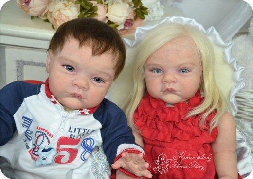 """Здравствуйте,девочки-мастерицы! Вот и """"родились"""" у меня новенькие куклята, братик и сестрёнка Тимофей и Таисия. Крупные детки, по 67 см, вес 2,5 кг. фото 17"""