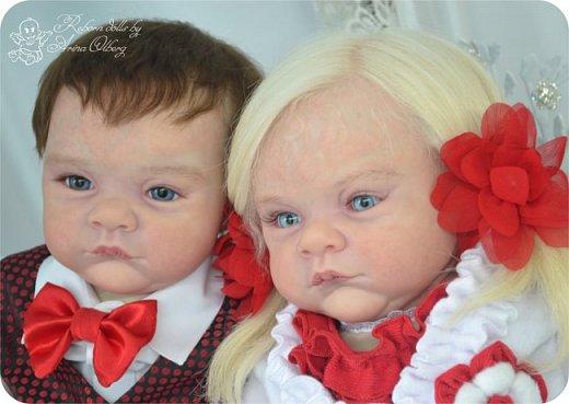 """Здравствуйте,девочки-мастерицы! Вот и """"родились"""" у меня новенькие куклята, братик и сестрёнка Тимофей и Таисия. Крупные детки, по 67 см, вес 2,5 кг. фото 5"""