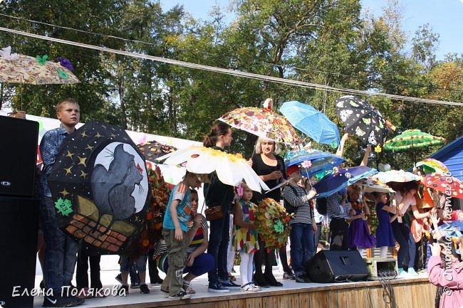 В начале сентября наш город праздновал 137-й день рождения! И в честь этого в городском парке объявили шоу зонтиков, мы же ну никак не могли обойти стороной это мероприятие :)) фото 15