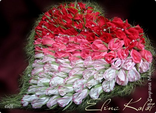 сладкое сердце из конфет в подарок на свадьбу фото 1