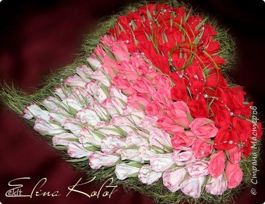 сладкое сердце из конфет в подарок на свадьбу фото 3