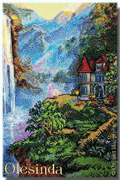 Приветствую всех любительниц вышивки крестом! Родилась у меня еще одна картина, вышитая из набора для вышивания фирмы «PANNA». Размер вышивки 28,5 х 33,5 см (179 х 211 крестиков). В работе использовалось 64 цвета. фото 4