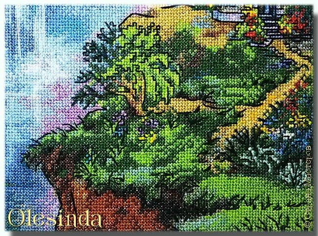 Приветствую всех любительниц вышивки крестом! Родилась у меня еще одна картина, вышитая из набора для вышивания фирмы «PANNA». Размер вышивки 28,5 х 33,5 см (179 х 211 крестиков). В работе использовалось 64 цвета. фото 5