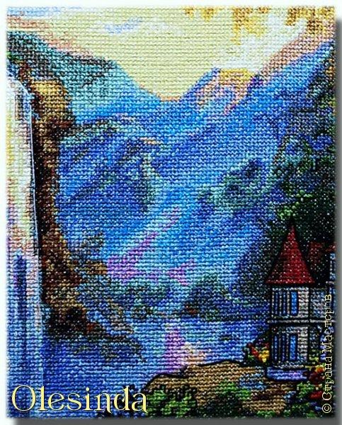 Приветствую всех любительниц вышивки крестом! Родилась у меня еще одна картина, вышитая из набора для вышивания фирмы «PANNA». Размер вышивки 28,5 х 33,5 см (179 х 211 крестиков). В работе использовалось 64 цвета. фото 7