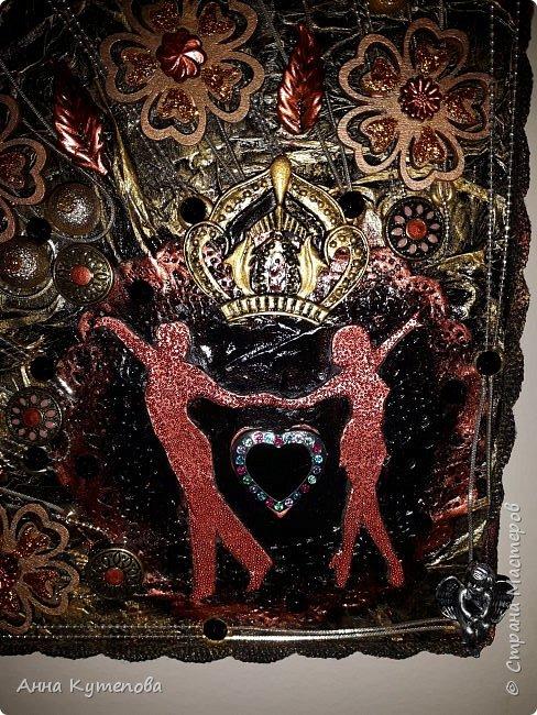"""Очередное панно, подарок замечательным, молодым, талантливым людям, руководителям школы """"Levita Dance"""" Сашеньке и Диме Левита.  На ваш суд панно: """"Короли Танца"""" (или """"Вальс Бостон"""", или """"Танец листьев"""", как вам будет угодно :)) фото 5"""