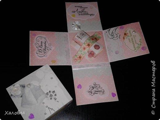 Коробочка с сюрпризом в подарок на свадьбу фото 4