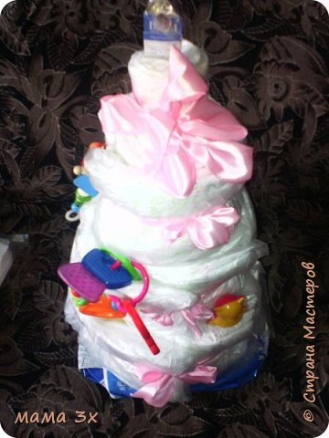 надо было быстро,на рождение племянницы, это первый торт .... фотоаппарата не было под рукой фото 1
