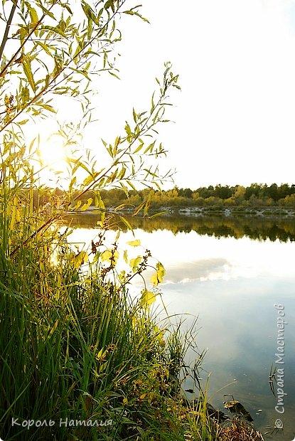 Добрый вечер! Посчастливилось неделю назад погулять на природе. Было достаточно тепло, солнышко ласково светило и календарная осень никак не ощущалась, да и настроение было летнее. Но приехав домой и рассматривая фотографии, я заметила, что все-таки осень берет свое... Воздух стал прозрачней, а небо кажется выше и дальше, чем летом. Глубокий, ярко-синий его цвет по-особенному отражается в воде. И хотя кроны деревьев еще не усыпаны золотом осени, кое-где проступает желтизна... фото 17