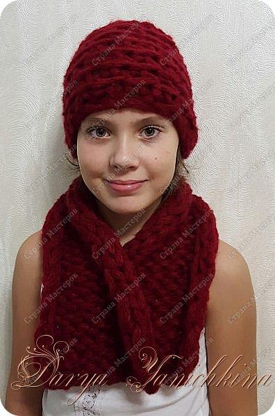 Шапка и шарф фото 1
