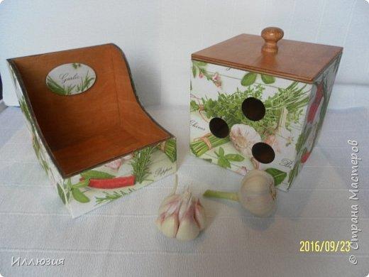 Короба для хранения чеснока и специй фото 2